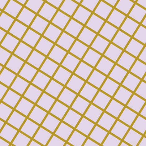 58/148 degree angle diagonal checkered chequered lines, 7 pixel line width, 43 pixel square size, Sahara and Blue Chalk plaid checkered seamless tileable
