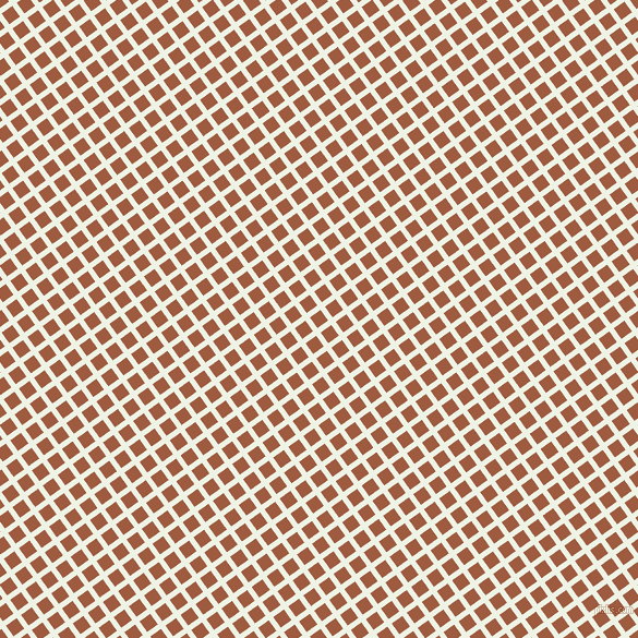 36/126 degree angle diagonal checkered chequered lines, 5 pixel line width, 12 pixel square size, Saltpan and Sepia plaid checkered seamless tileable