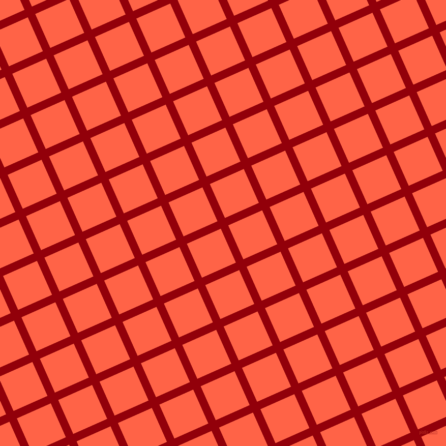24/114 degree angle diagonal checkered chequered lines, 16 pixel lines width, 73 pixel square size, Sangria and Tomato plaid checkered seamless tileable