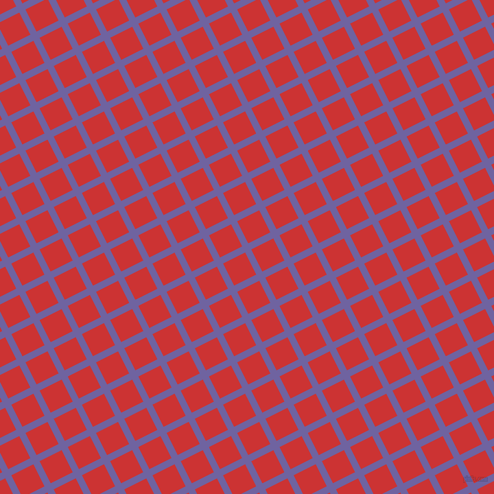 27/117 degree angle diagonal checkered chequered lines, 10 pixel lines width, 36 pixel square size, Scampi and Persian Red plaid checkered seamless tileable