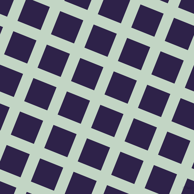 68/158 degree angle diagonal checkered chequered lines, 38 pixel lines width, 85 pixel square size, Sea Mist and Violent Violet plaid checkered seamless tileable