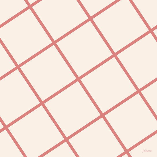 34/124 degree angle diagonal checkered chequered lines, 10 pixel lines width, 141 pixel square size, Sea Pink and Linen plaid checkered seamless tileable