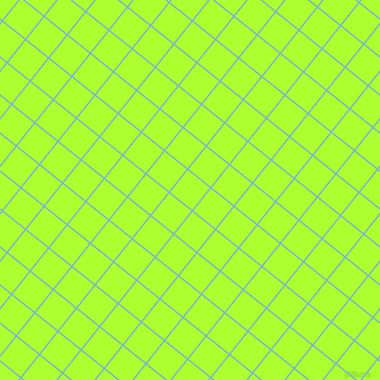 51/141 degree angle diagonal checkered chequered lines, 2 pixel lines width, 40 pixel square size, Seagull and Green Yellow plaid checkered seamless tileable
