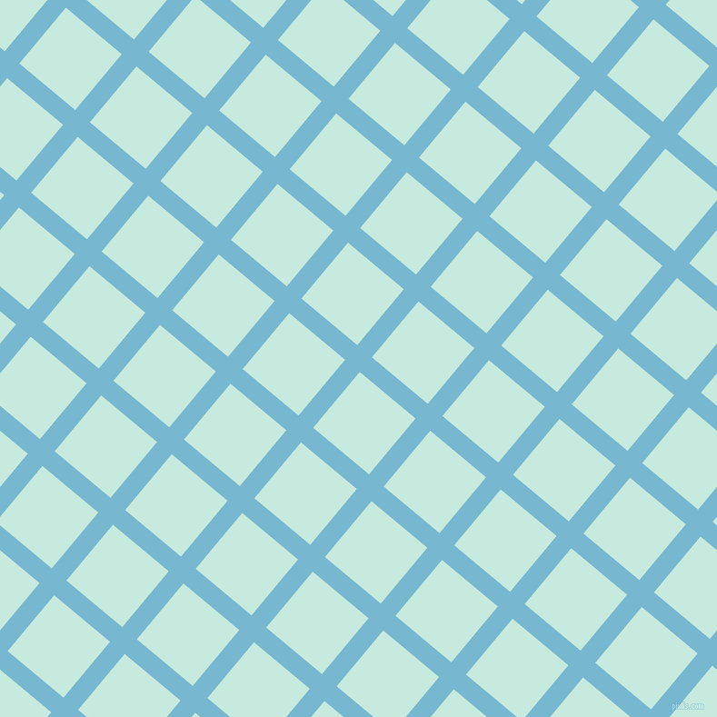 50/140 degree angle diagonal checkered chequered lines, 21 pixel lines width, 80 pixel square size, Seagull and Mint Tulip plaid checkered seamless tileable