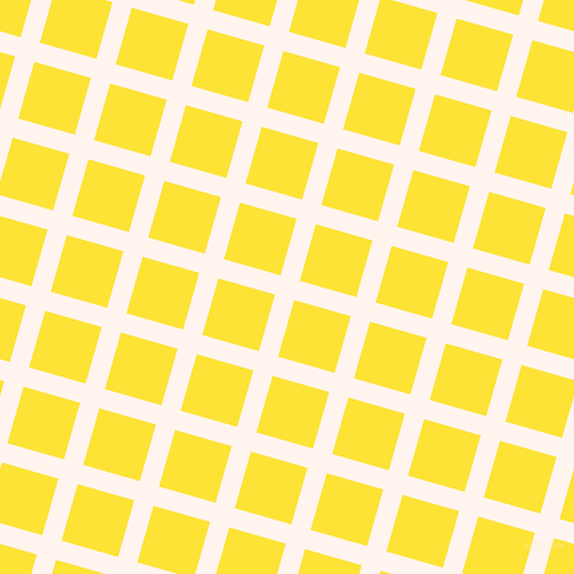 74/164 degree angle diagonal checkered chequered lines, 18 pixel lines width, 53 pixel square size, Seashell and Gorse plaid checkered seamless tileable