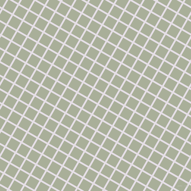 60/150 degree angle diagonal checkered chequered lines, 6 pixel lines width, 35 pixel square size, Selago and Green Spring plaid checkered seamless tileable