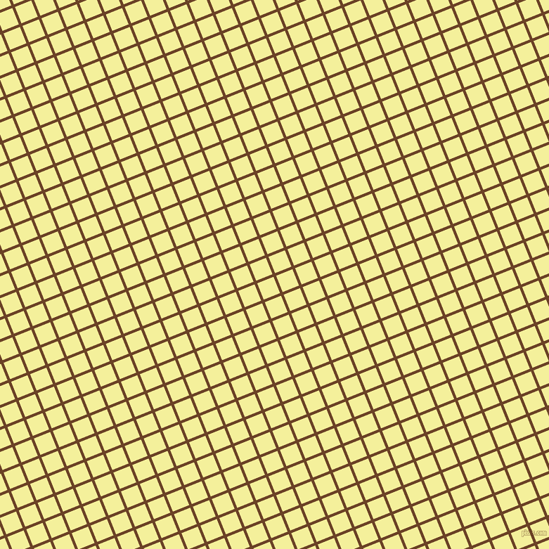 22/112 degree angle diagonal checkered chequered lines, 4 pixel lines width, 25 pixel square size, Semi-Sweet Chocolate and Portafino plaid checkered seamless tileable