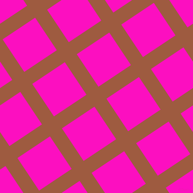 34/124 degree angle diagonal checkered chequered lines, 46 pixel line width, 125 pixel square size, Sepia and Shocking Pink plaid checkered seamless tileable