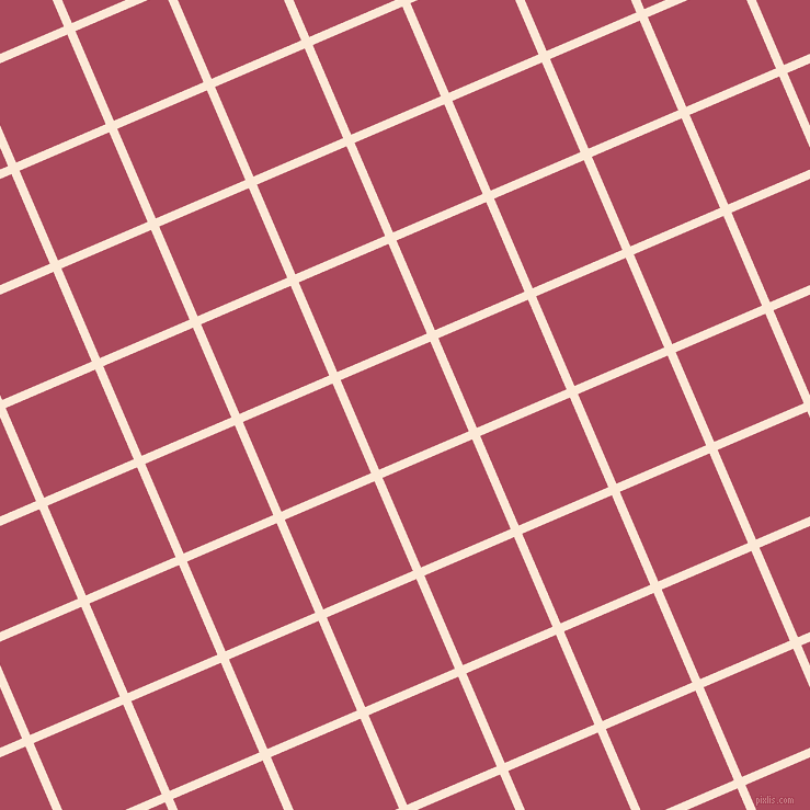 23/113 degree angle diagonal checkered chequered lines, 8 pixel lines width, 89 pixel square size, Serenade and Hippie Pink plaid checkered seamless tileable