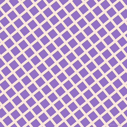 39/129 degree angle diagonal checkered chequered lines, 8 pixel line width, 24 pixel square size, Serenade and Lilac Bush plaid checkered seamless tileable