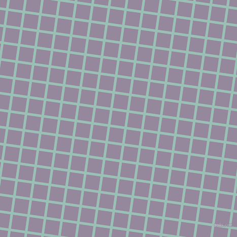 82/172 degree angle diagonal checkered chequered lines, 5 pixel lines width, 28 pixel square size, Shadow Green and Amethyst Smoke plaid checkered seamless tileable