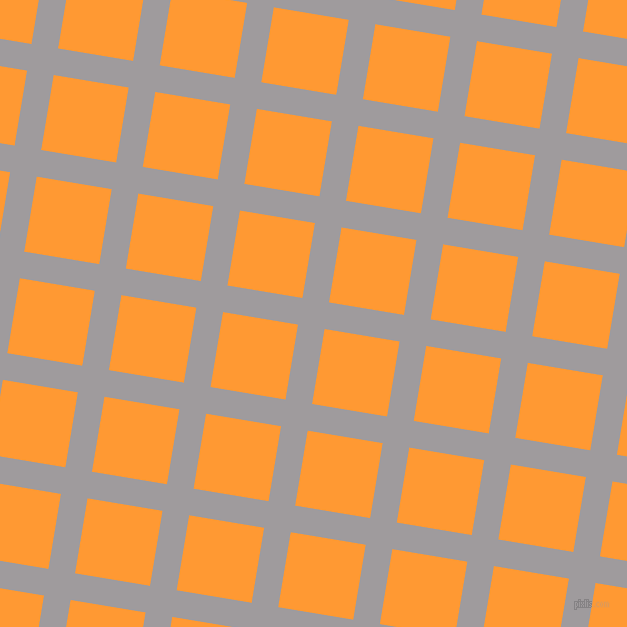 81/171 degree angle diagonal checkered chequered lines, 27 pixel line width, 76 pixel square size, Shady Lady and Neon Carrot plaid checkered seamless tileable