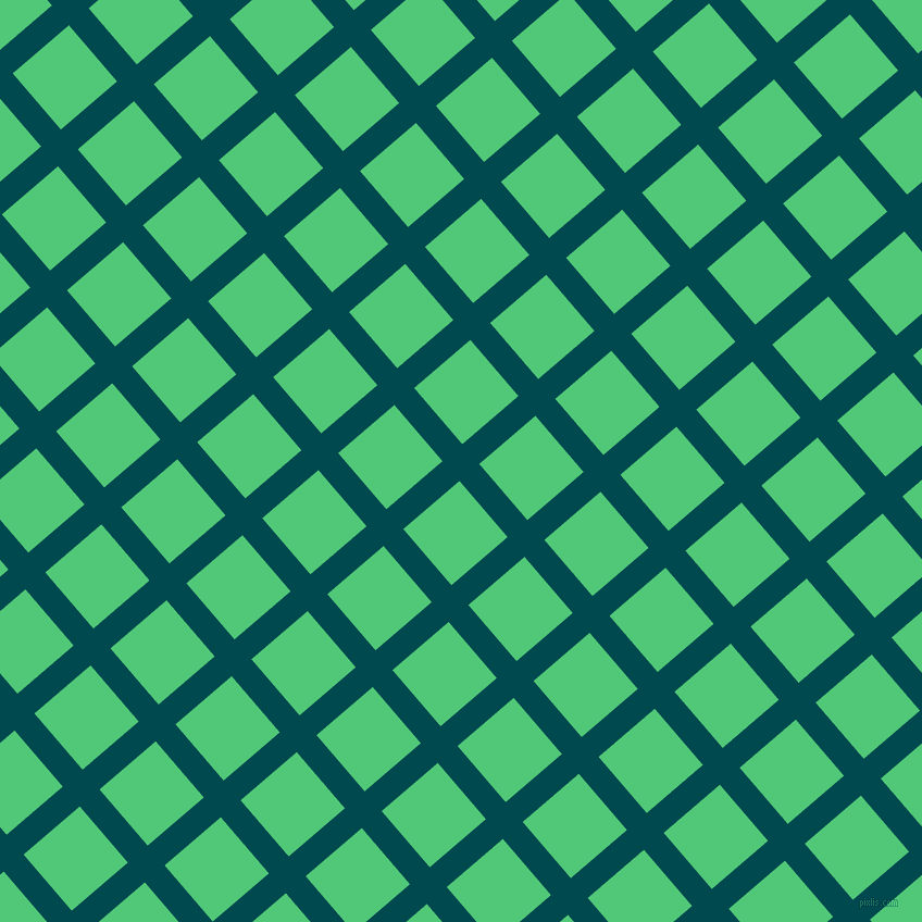 41/131 degree angle diagonal checkered chequered lines, 24 pixel line width, 68 pixel square size, Sherpa Blue and Emerald plaid checkered seamless tileable