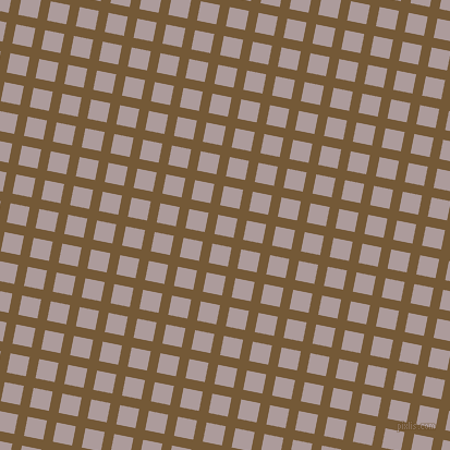 79/169 degree angle diagonal checkered chequered lines, 9 pixel lines width, 18 pixel square size, Shingle Fawn and Dusty Grey plaid checkered seamless tileable