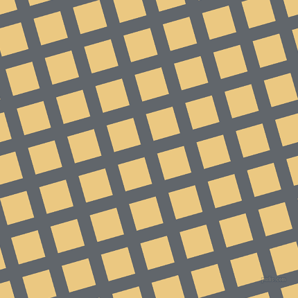 16/106 degree angle diagonal checkered chequered lines, 19 pixel line width, 40 pixel square size, Shuttle Grey and Marzipan plaid checkered seamless tileable