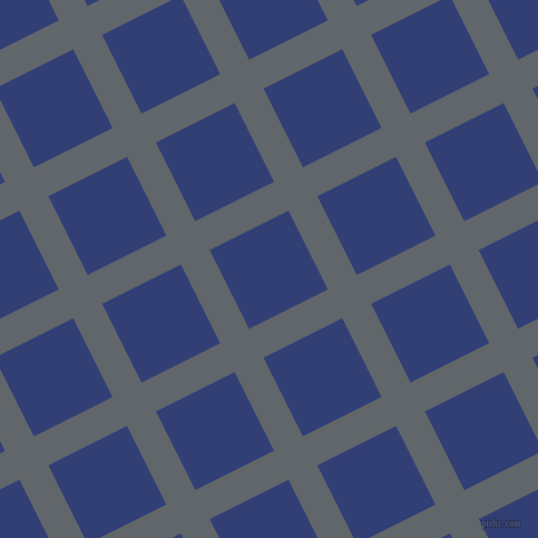 27/117 degree angle diagonal checkered chequered lines, 29 pixel lines width, 79 pixel square size, Shuttle Grey and Resolution Blue plaid checkered seamless tileable