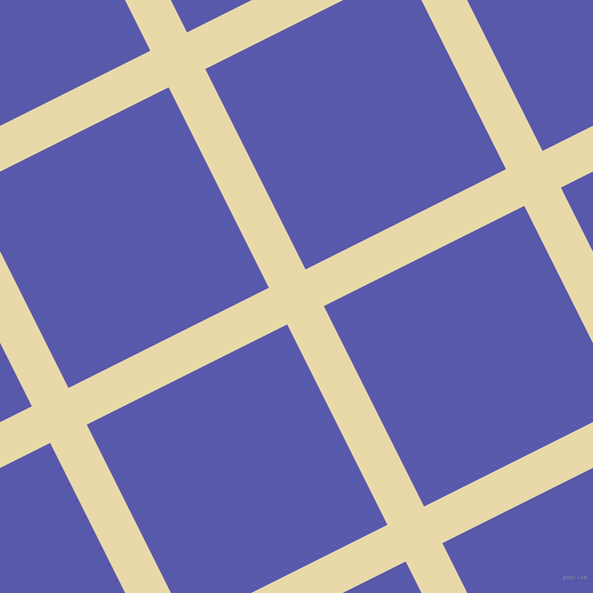 27/117 degree angle diagonal checkered chequered lines, 58 pixel lines width, 317 pixel square size, Sidecar and Rich Blue plaid checkered seamless tileable