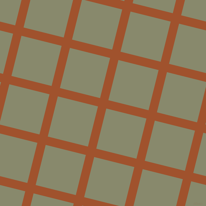 76/166 degree angle diagonal checkered chequered lines, 34 pixel line width, 164 pixel square size, Sienna and Bitter plaid checkered seamless tileable