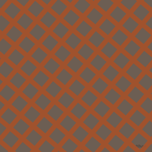49/139 degree angle diagonal checkered chequered lines, 16 pixel line width, 38 pixel square size, Sienna and Kabul plaid checkered seamless tileable