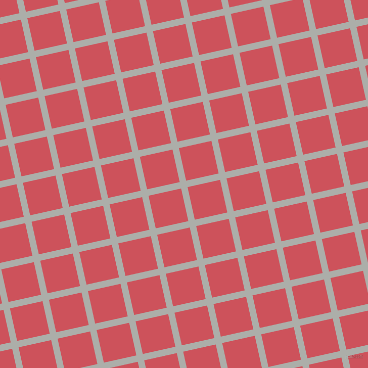 13/103 degree angle diagonal checkered chequered lines, 13 pixel lines width, 66 pixel square size, Silver Chalice and Mandy plaid checkered seamless tileable