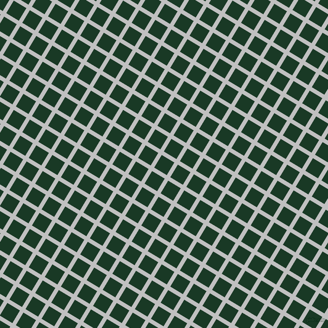 59/149 degree angle diagonal checkered chequered lines, 8 pixel lines width, 29 pixel square size, Silver and Deep Fir plaid checkered seamless tileable