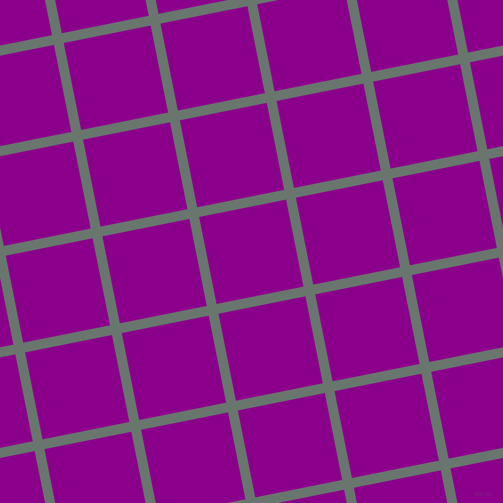 11/101 degree angle diagonal checkered chequered lines, 20 pixel line width, 179 pixel square size, Sirocco and Dark Magenta plaid checkered seamless tileable