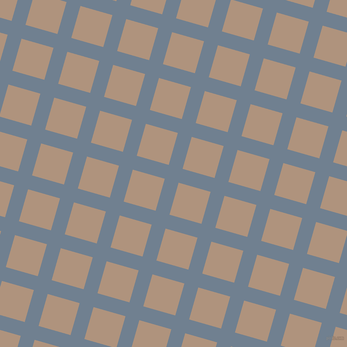 74/164 degree angle diagonal checkered chequered lines, 29 pixel lines width, 67 pixel square size, Slate Grey and Sandrift plaid checkered seamless tileable