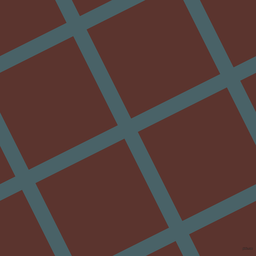 27/117 degree angle diagonal checkered chequered lines, 52 pixel lines width, 347 pixel square size, Smalt Blue and Redwood plaid checkered seamless tileable