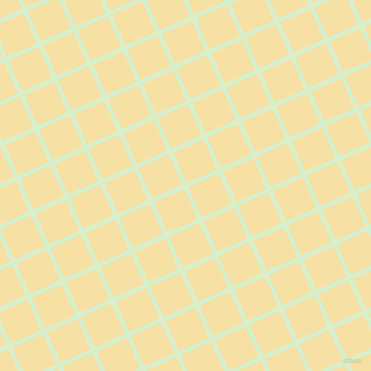 24/114 degree angle diagonal checkered chequered lines, 9 pixel line width, 65 pixel square size, Snowy Mint and Buttermilk plaid checkered seamless tileable