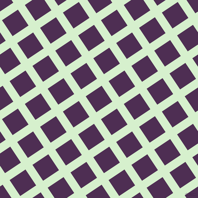 34/124 degree angle diagonal checkered chequered lines, 27 pixel line width, 62 pixel square size, Snowy Mint and Hot Purple plaid checkered seamless tileable