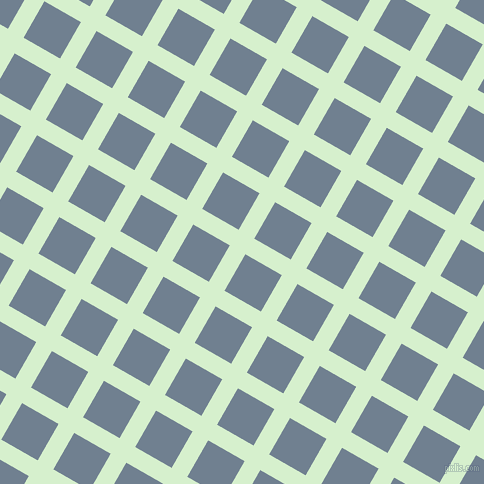 60/150 degree angle diagonal checkered chequered lines, 18 pixel line width, 42 pixel square size, Snowy Mint and Slate Grey plaid checkered seamless tileable