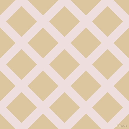 45/135 degree angle diagonal checkered chequered lines, 29 pixel line width, 74 pixel square size, Soft Peach and Raffia plaid checkered seamless tileable