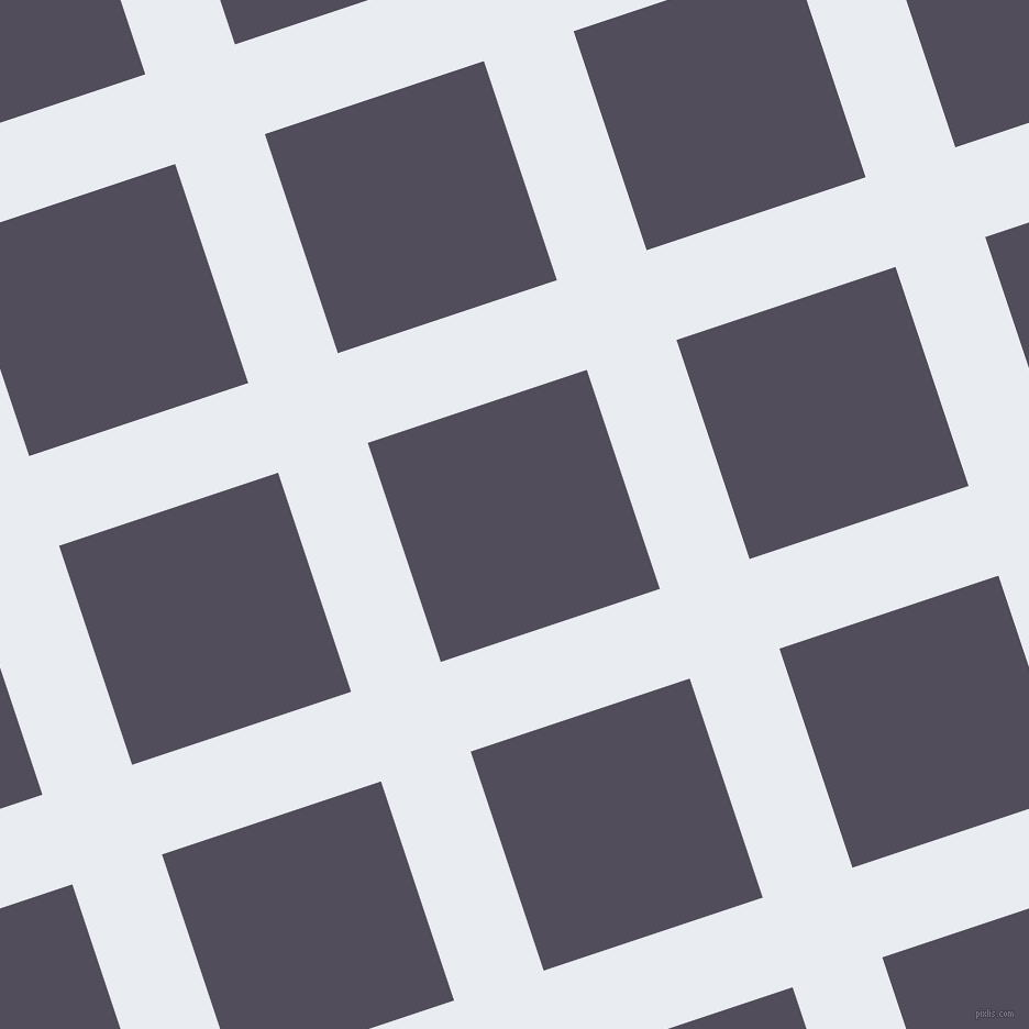 18/108 degree angle diagonal checkered chequered lines, 86 pixel line width, 210 pixel square size, Solitude and Mulled Wine plaid checkered seamless tileable
