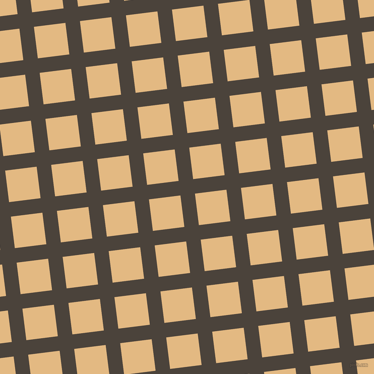 7/97 degree angle diagonal checkered chequered lines, 29 pixel line width, 63 pixel square size, Space Shuttle and Maize plaid checkered seamless tileable