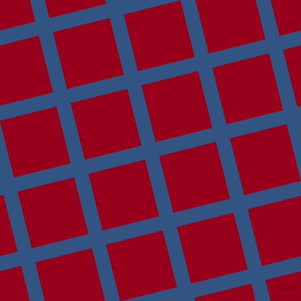 14/104 degree angle diagonal checkered chequered lines, 29 pixel line width, 117 pixel square size, St Tropaz and Carmine plaid checkered seamless tileable