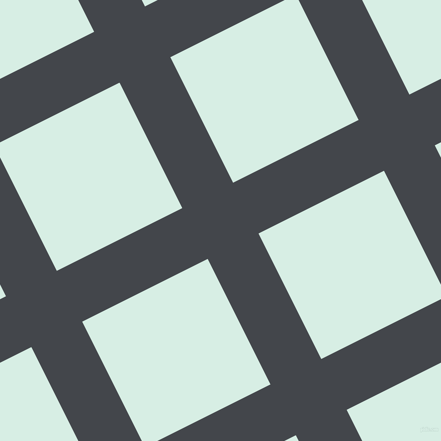 27/117 degree angle diagonal checkered chequered lines, 113 pixel lines width, 279 pixel square size, Steel Grey and White Ice plaid checkered seamless tileable