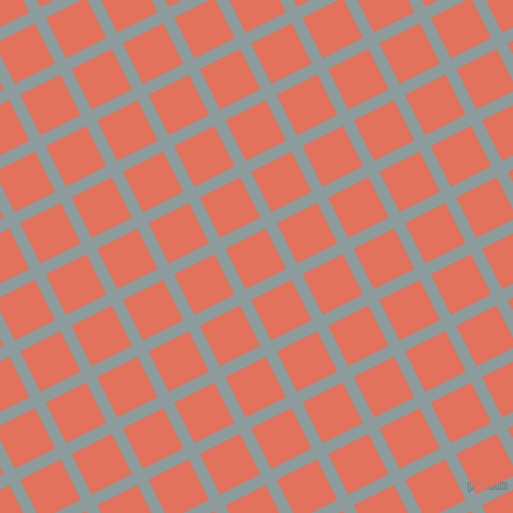27/117 degree angle diagonal checkered chequered lines, 11 pixel line width, 41 pixel square size, Submarine and Terra Cotta plaid checkered seamless tileable