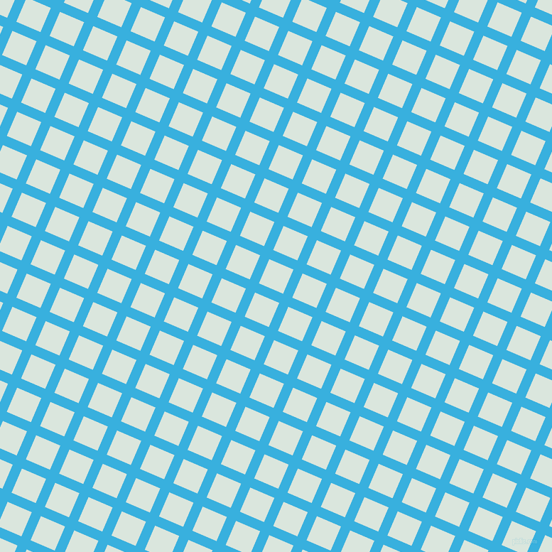 67/157 degree angle diagonal checkered chequered lines, 14 pixel line width, 37 pixel square size, Summer Sky and Swans Down plaid checkered seamless tileable