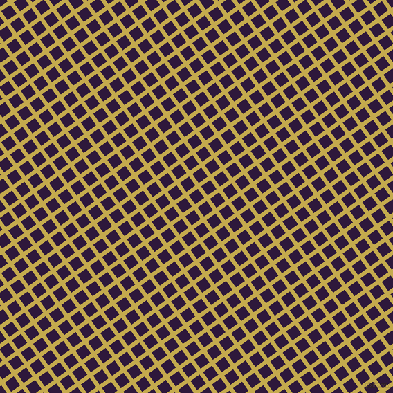 36/126 degree angle diagonal checkered chequered lines, 6 pixel line width, 16 pixel square size, Sundance and Blackcurrant plaid checkered seamless tileable