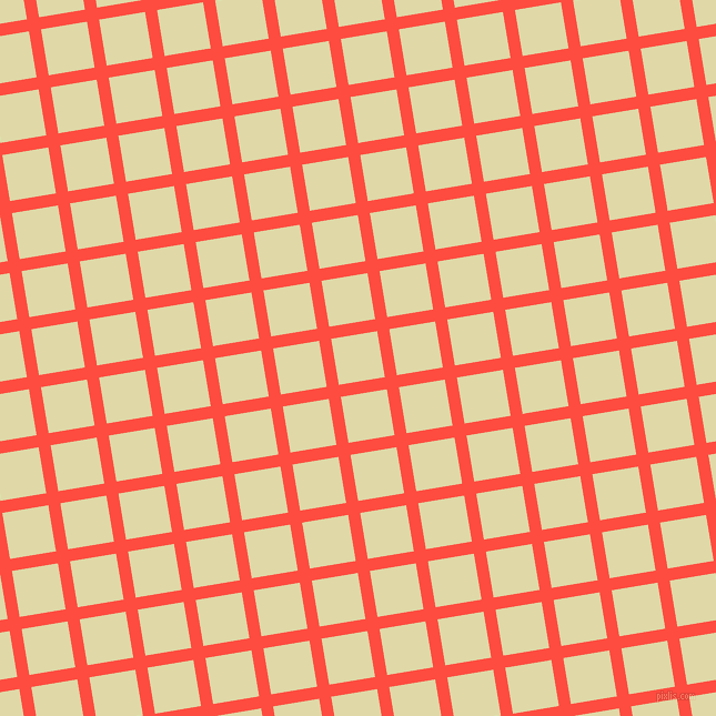 9/99 degree angle diagonal checkered chequered lines, 11 pixel line width, 42 pixel square sizeSunset Orange and Mint Julep plaid checkered seamless tileable