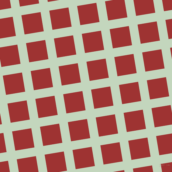 9/99 degree angle diagonal checkered chequered lines, 29 pixel lines width, 64 pixel square size, Surf Crest and Milano Red plaid checkered seamless tileable