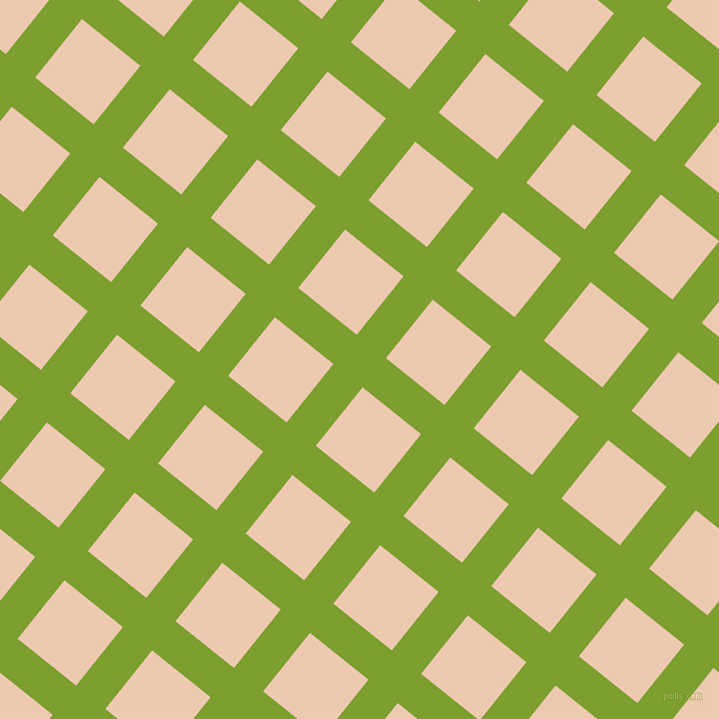 51/141 degree angle diagonal checkered chequered lines, 34 pixel lines width, 68 pixel square size, Sushi and Desert Sand plaid checkered seamless tileable