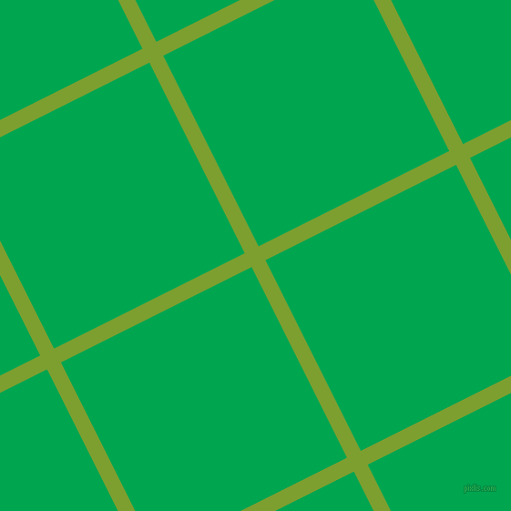 27/117 degree angle diagonal checkered chequered lines, 17 pixel lines width, 234 pixel square size, Sushi and Pigment Green plaid checkered seamless tileable