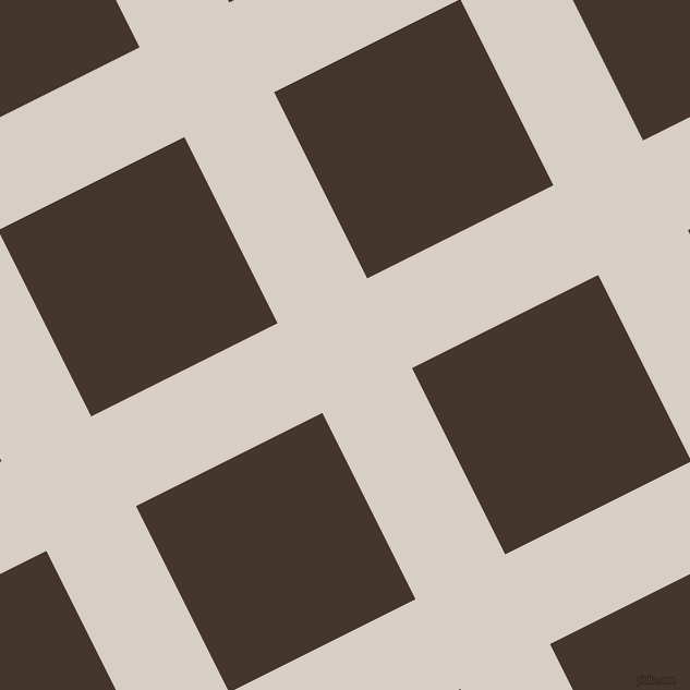 27/117 degree angle diagonal checkered chequered lines, 92 pixel lines width, 191 pixel square size, Swirl and Dark Rum plaid checkered seamless tileable