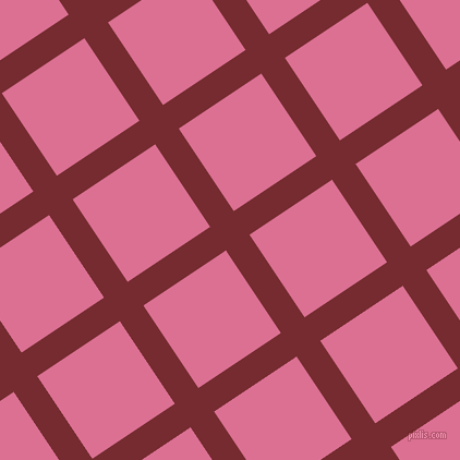 34/124 degree angle diagonal checkered chequered lines, 26 pixel lines width, 91 pixel square size, Tamarillo and Pale Violet Red plaid checkered seamless tileable
