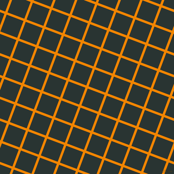 69/159 degree angle diagonal checkered chequered lines, 8 pixel line width, 60 pixel square size, Tangerine and Aztec plaid checkered seamless tileable