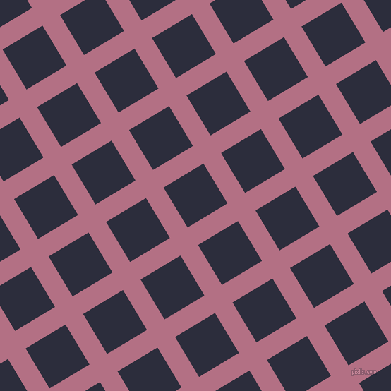 31/121 degree angle diagonal checkered chequered lines, 29 pixel line width, 66 pixel square size, Tapestry and Black Rock plaid checkered seamless tileable