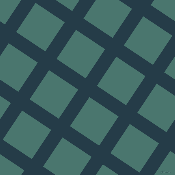 56/146 degree angle diagonal checkered chequered lines, 46 pixel lines width, 119 pixel square size, Tarawera and Dark Green Copper plaid checkered seamless tileable