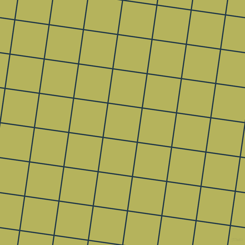 82/172 degree angle diagonal checkered chequered lines, 4 pixel lines width, 107 pixel square size, Tarawera and Olive Green plaid checkered seamless tileable
