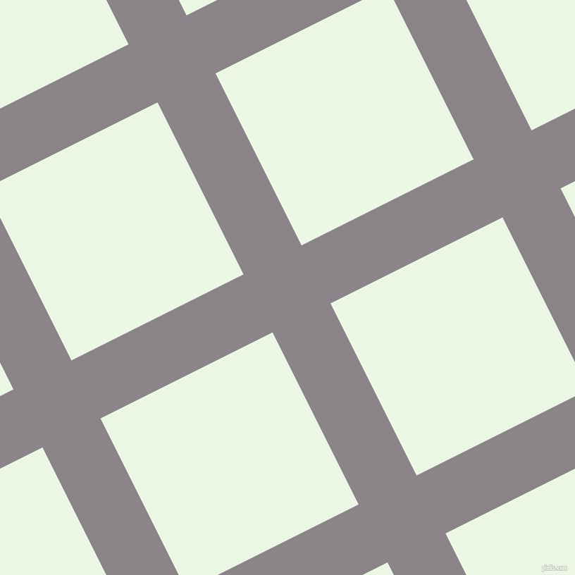 27/117 degree angle diagonal checkered chequered lines, 92 pixel lines width, 273 pixel square size, Taupe Grey and Panache plaid checkered seamless tileable